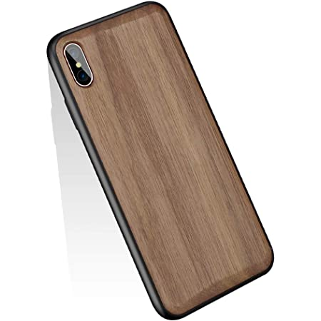 YUYIB iPhone Xs Max ケース 高級天然木製 木 ウッド ハードケース 衝撃吸収 落下防止 防指紋 携帯カバー ソフトパンバー+ハード木製パネル iPhoneケース (iPhone Xs Max, くるみの木1)