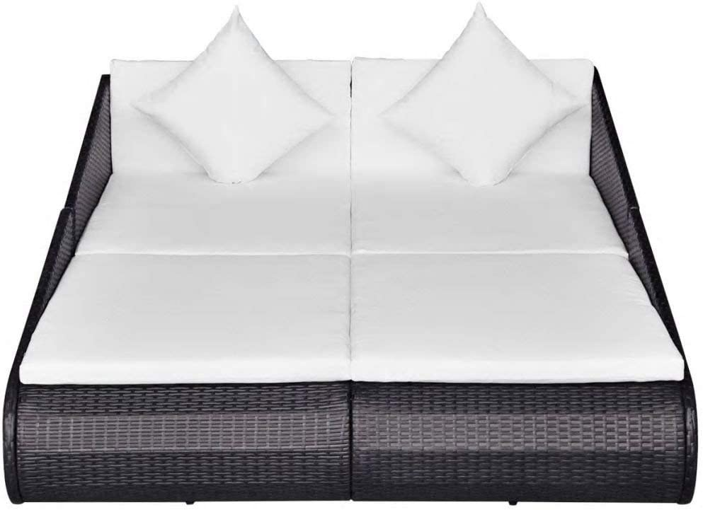 Daonanba 2-Person Daybed Al sold Popular standard out. Comfortable Furni Sunbed Garden Outdoor