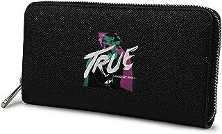 メンズ 長財布 ファスナー財布 ウォレット True Avicii 薄い ブラック 小銭入れ 人気 ラウンドファスナー レザー 大容量 カード ビジネス ウォレット 男女兼用 二つ折り レシート コイン カード