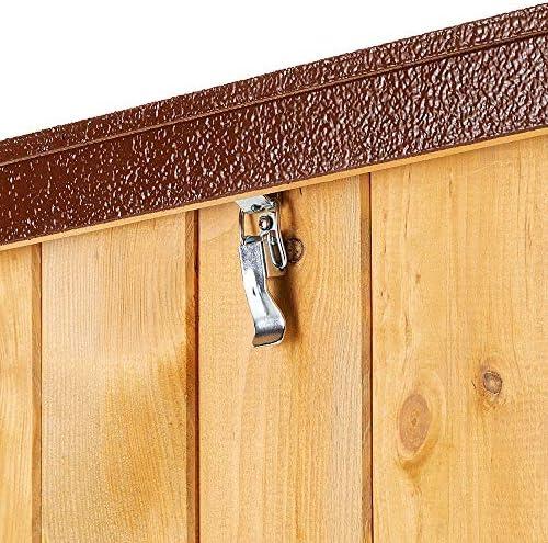 Ferplast Niche pour chiens Maisonnette BAITA 80 en bois FSC, Pieds isolants en plastique, Porte anti-morsures en aluminium, Toit ouvrant