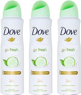 Dove Antiperspirant Deodorant Spray Moisturizing Cucumber & Green Tea 5oz, 3ct