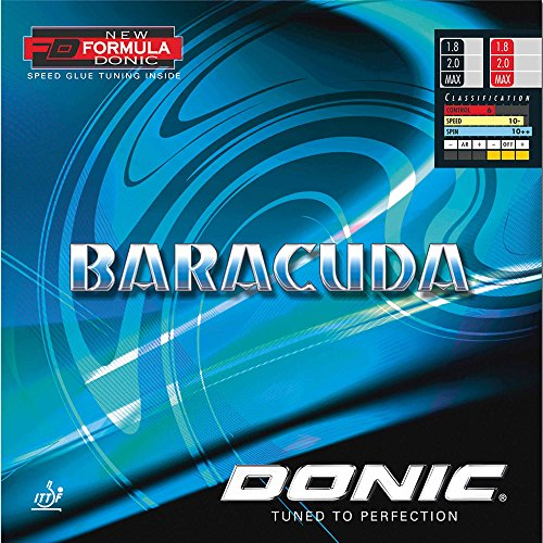 DONIC Belag Baracuda, schwarz, 2,3 mm