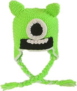 Newborn Baby Boys Custom Crochet Monster Hat with Braids