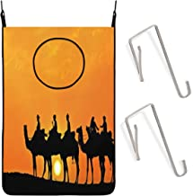 Cyloten Silhouette of Camels Caravan Laundry Storage Baskets Space Saving Hanging Dirty Clothes Hamper Waterproof Fabric O...