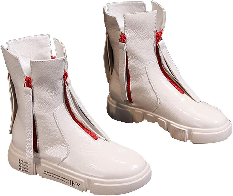 utomhus Sports skor läder läder läder Vattentäta stövlar Vattentäta stövlar Snöskor Kvinnliga skor Cotton skor Casual gående skor Warm Bomull stövlar skor (Färg  vit, Storlek  35)  första gången svara