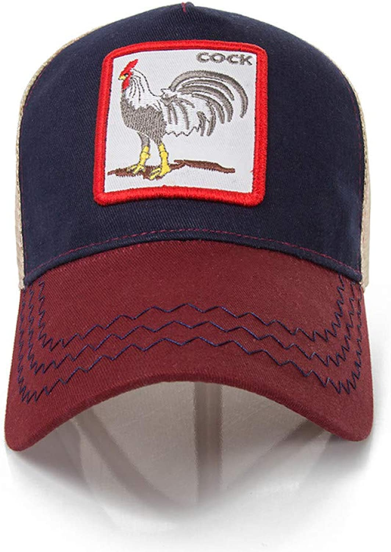 JINRMP Animals Embroidery Baseball Caps Men Women Snapback Hip Hop Hat Summer Breathable Mesh Sun Unisex