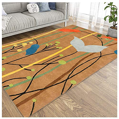 Living Room Nordic Wind Carpet Cross Border for Thee Table Mat Carpet Anti Slip Water Absorption Tapijt-4.7 (Color : Brown, Size : 80 * 140cm)