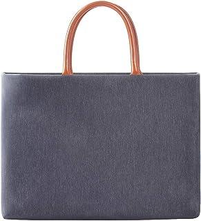 JJJJD Men Womens Canvas Briefcase Laptop Handbag Business Bag Tote Bag 15.4 Inch Laptop Tablet Sleeve Case Satchel Handbag (Color : Gray)