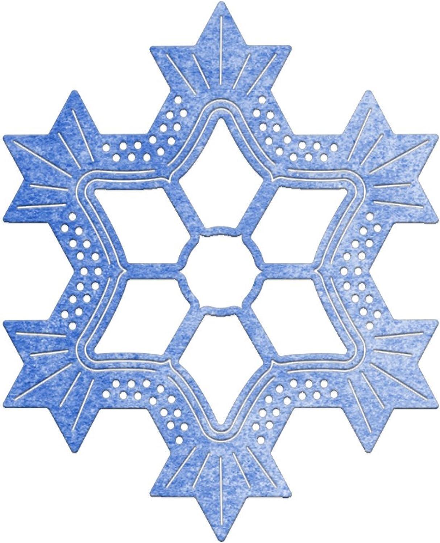 Cheery Lynn Designs Schneeflocke 10,2 cm Spitzendeckchen sterben, Acryl, mehrfarbig, 5,7 cm x 5,7 cm, 2-teilig B01F9OWD56 | Schönes Aussehen