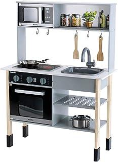 Klein 7199 Cuisine en bois Miele |Comprend une plaque de cuisson avec effets sonores et lumineux | Dimensions : 70 cm x 30...
