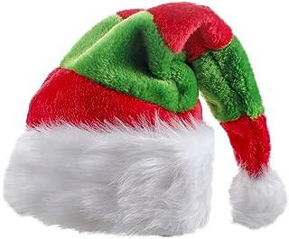 Unisex Adults Christmas Tree Hat Plush Velvet Santa Cap - Adult Christmas Man Women Xmas Red Green Novelty Hat Party Plush Headwear