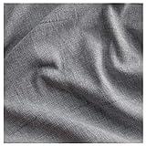 IKEA LENDA - Cortinas con lazos (1 par), color gris
