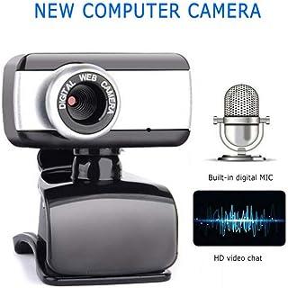 no logo MiMoo USB 2.0 Webcam, 360 Degree Home 480 HD Webcam, Built-in Microphone Clip-on PC Laptop Desktop Business Web Ca...