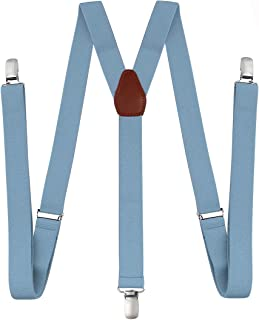 Suspenders for Men - Adjustable Elastic Y Back Style Suspender - Strong Clips (Unisex)