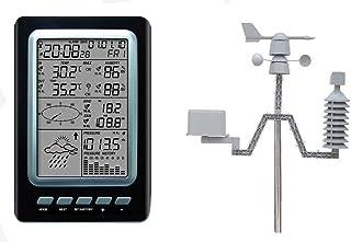 プロフェッショナル ウェザーステーション,風速度方向センサーのデジタル風チル温度、ソーラー天気駅、ワイヤレス温湿度計でプロフェッショナルワイヤレスウェザーステーション風速計