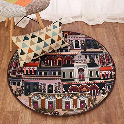 Good thing tapis Couvertures rondes maison créative tapis salon tapis suspendus tapis tapis chambre à coucher chaises literie (taille : 110 * 110cm)