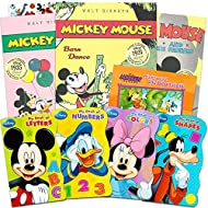 Disney Mickey Minnie Mouse Board Books Set for Kids Toddlers -- Bundle of 8 Disney Books (4 Board Books, 4 Soft Cover Books)