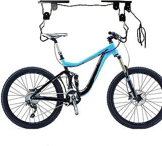Sistema Multifuncional de polea de elevación de Kayak Elevador de Bicicleta Soporte para Colgar Gancho para Rack de Almacenamiento en Techo con Cuerda Libre + Negro