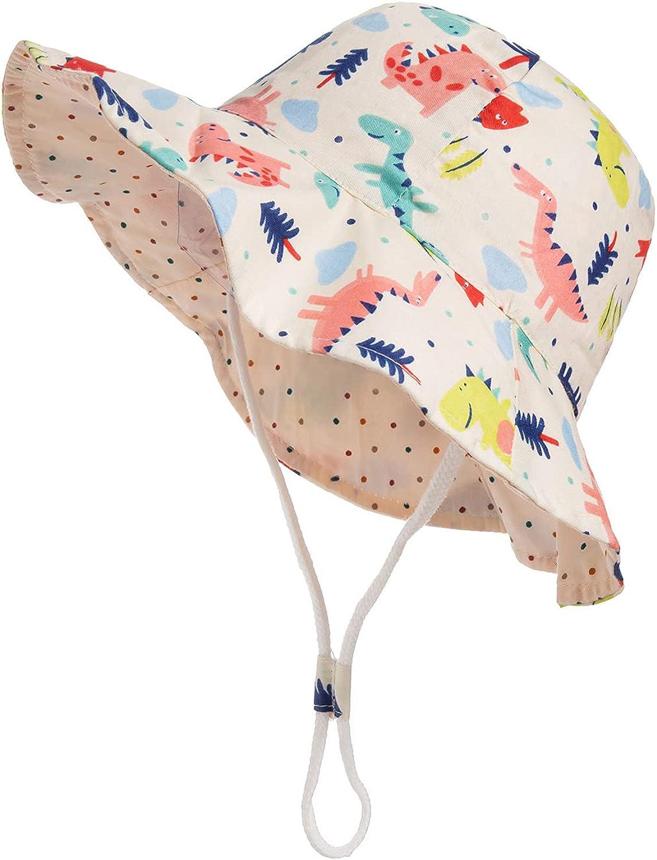 Baby Boy Girl Sun Hat Summer Beach Sun UPF 50+ Protection Baby Boy Hats Toddler Sun Hats Cap for Baby Girl Kid Bucket Hat