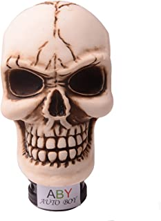 AutoBoy ABy Skull Head Gear Stick Shift Shifter Knob Lever Cover Universal Fit for Most Manual Transmission Vehicles(Beige)