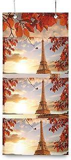 XIXIKO France Paris Tour Eiffel Pochettes de rangement à suspendre au mur avec 3 poches pour porte Sac de rangement mural ...