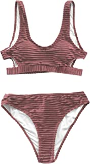 velvet high waisted swimsuit