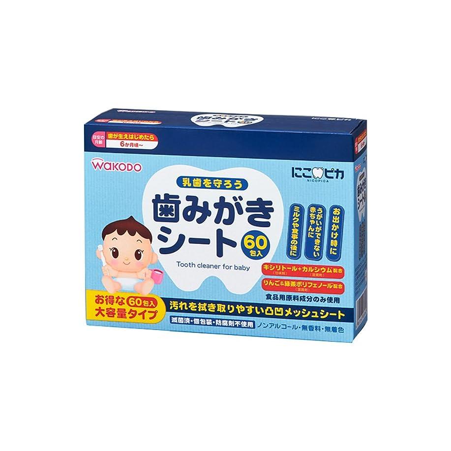 香港数値緩める和光堂)にこピカ歯みがきシート(60包)