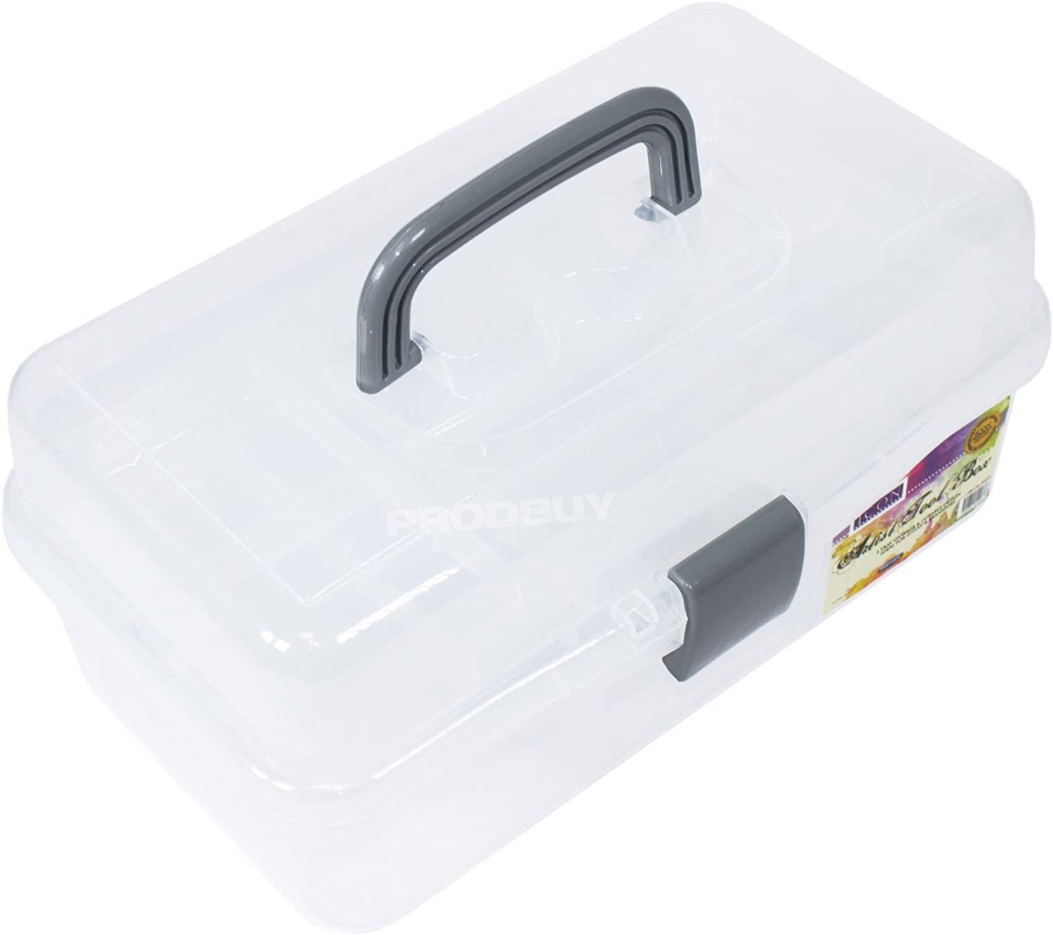 Artist's Tool Box Clear Plastic Carry Max 70% OFF Pencil Case Gifts Art Scho Brush
