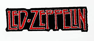 MNC Patch Red Led Zeppelin Music Band Heavy Metal Punk Rock Logo iron on sew on patch Sign Badge Symbol Patch Iron on Applique Embroidered Jacket T shirt Costume