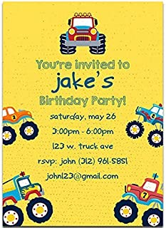 Monster Truck Birthday Party Invitations