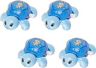 TOYANDONA 4pcs Bath Swimming Turtle Toy Wind Up Chain Bathing Water Toy Tortoise Clockwork Toy Swimming Bathtub Pool Swimm...