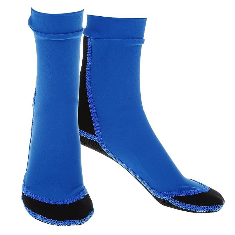 等価と闘う保育園Lovoski ネオプレーン スノーケリング シューズ サーフィン ブーツ ダイビング ソックス 全4色4サイズ - 青, S
