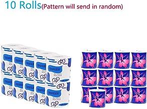 Ultra Soft Gentle Toilet Paper,3 Layers 10 Family Mega Rolls,75g10 Rolls(Random Color)