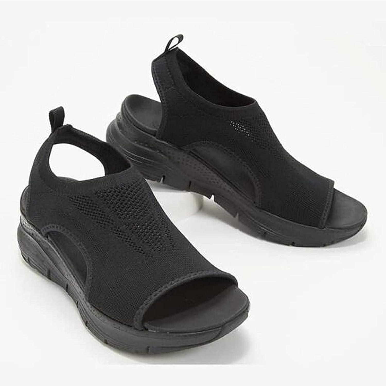 Summer Washable Slingback Orthopedic Slide Sport Sandals, Women's Comfy Sports Knit Sandals