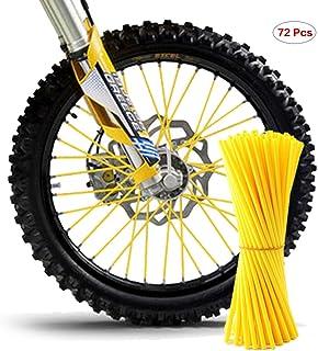 protettivi e decorativi Fluorescente. Kuizhiren1 per moto e bici Set di 36 copriraggi per ruote