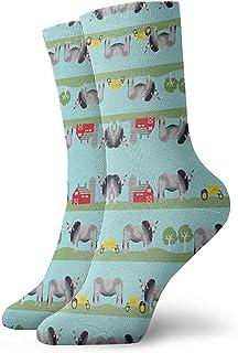 Dydan Tne, Niños Niñas Locos Divertidos Brehmen Ganado Tejidos Farm Ranch Design Calcetines Lindos Calcetines de Vestir de Novedad