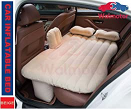Walmotor - Car Inflatable Bed Portable Camping Air Mattress with 2 Air Pillows- Beige