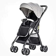Cochecito compacto y ligero, plegable Sillas de paseo portátiles, multifunción de alta paisaje sentarse y acostarse a prueba de golpes viaje del niño del cochecito de niño, 0-3 años ( Color : Gray )