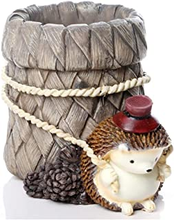 DKX Pen Holder, Sleek Minimalist Ornaments, Cartoon Cute Wooden Children's Pen Holder, Small Fresh Multi-Functional Office Supplies, Best Gift (Color : Red hat)