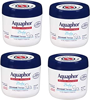 Aquaphor Baby Healing Ointment Advanced Therapy Skin Protectant, 14 Ounce, 4 Pack