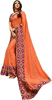 PINKKART Georgette Digital Print Saree Wedding Party Festive Indian Women Sari Designer Blouse 60
