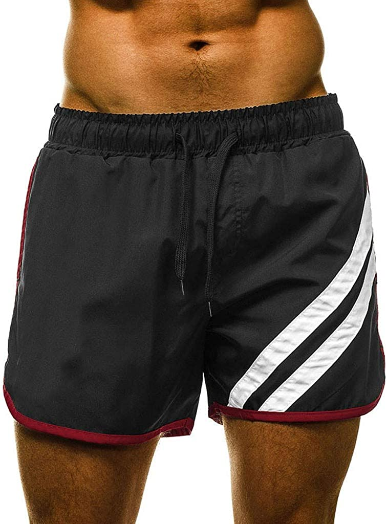 DIOMOR Mens Classic 5 Inches Drawstring Swim Trunks Athletic Board Shorts Quick Dry Beach Shorts Short Bathing Suit