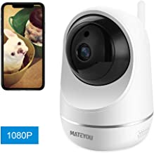 MATEYOU 1080P WiFi IP Security Camera with Alexa, Baby Monitor, Can Monitor Baby Crying, 2-Way Audio Wireless Indoor Camera Compatible for Baby/Elder/Pet, Cloud Service/Microsd Support