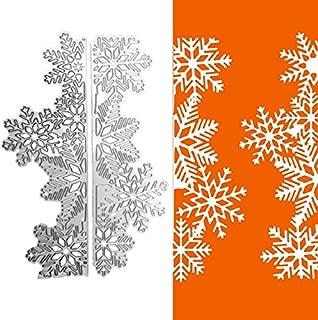 1set Snowflake Frame Cutting Dies Cut Metal Scrapbooking Stencils Die for DIY Embossing Photo Album Decorative DIY Paper Cards Making Craft