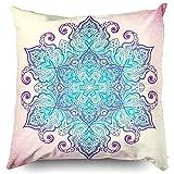 fgljfhkl Sleepyhead - Funda de almohada con cremallera, 45 x 45 cm, funda de almohada, funda de almohada, diseño de mandala,...
