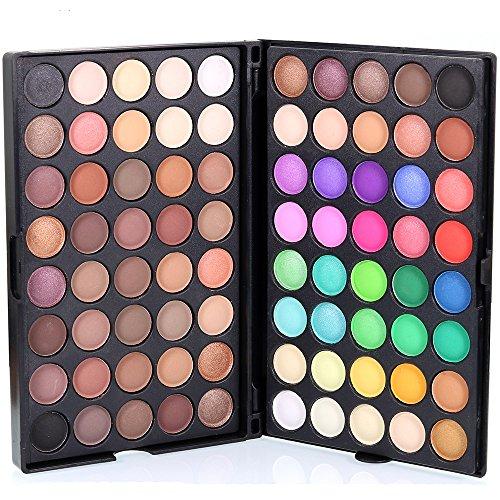 Battnot Lidschatten Palette 80 Farben Kosmetische Matte Lidschattencreme Makeup Palette Shimmer Set Eyeshadow (Schwarz)