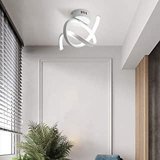 Osairous Plafonnier LED Moderne, Lampe de Plafond en Acrylique 16W, Ø31*20CM Éclairage de Plafond en Aluminium pour la Cha...