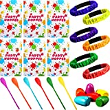 Easter Outdoor Game Set Includes 6 Potato Sack Race Bags, 6 Set Egg and Spoon Race Games, 6 Legged Race Bands for Birthday Party Games Outside Easter Eggs Hunt Game Party Favor Family Gatherings Games