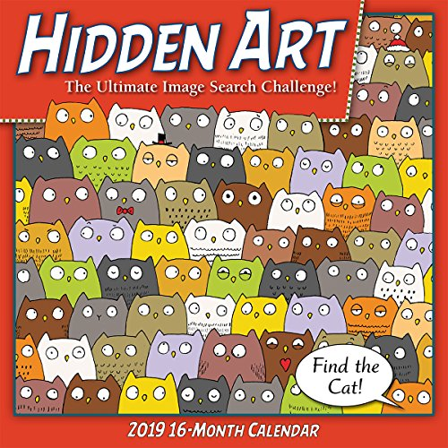 2019 Hidden Art — The Ultimate Image Search Calendar 16-Month Wall Calendar: by Sellers Publishing, 12x12 (CA-0445)