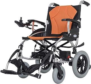 silla de ruedas eléctrica Plegable Portátil Ligero, Movilidad eléctrica con Doble Motor, 2 baterías extraíbles